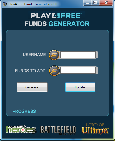 Play4Free Funds Generator.